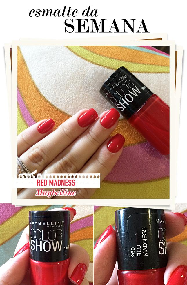 red madness maybelline esmalte da semana blog de moda oh my closet tendencies verao 2015 esmalte vermelho brilho