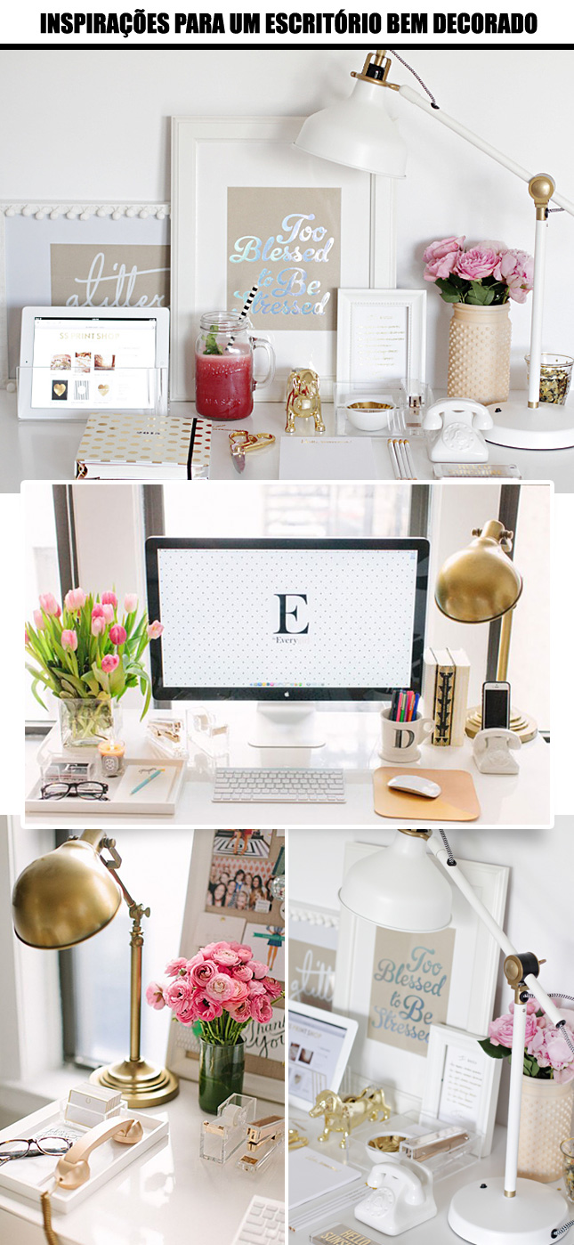 Inspirações para deixar seu escritório lindo!