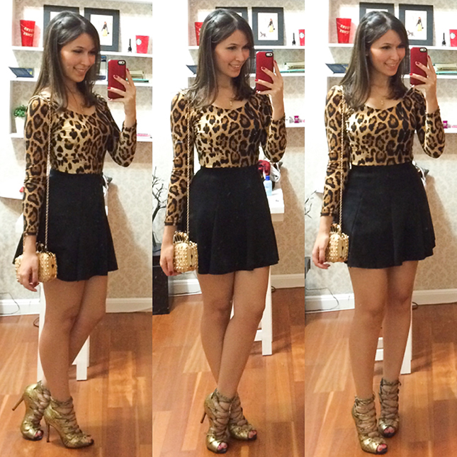 Look Inspiração: Mônica Araújo com blusa de oncinha!