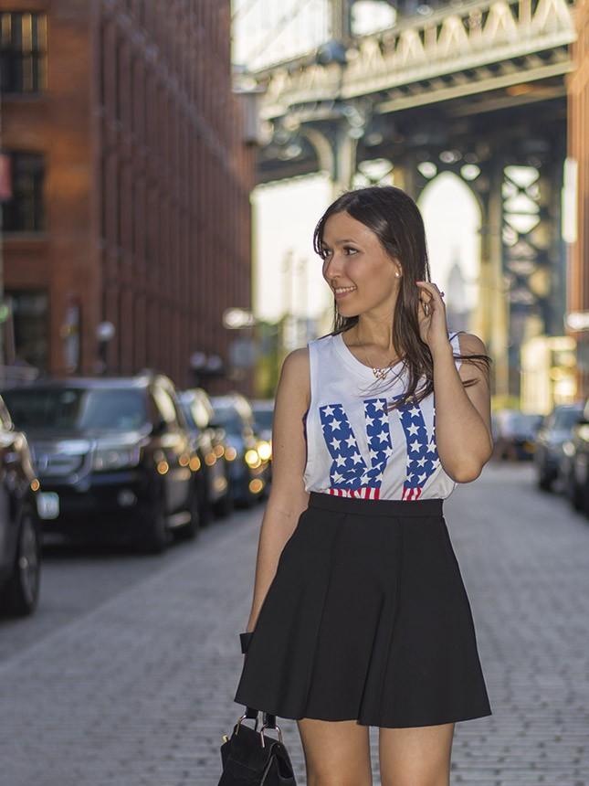 Look do dia da blogueira Mônica Araújo em NYC.