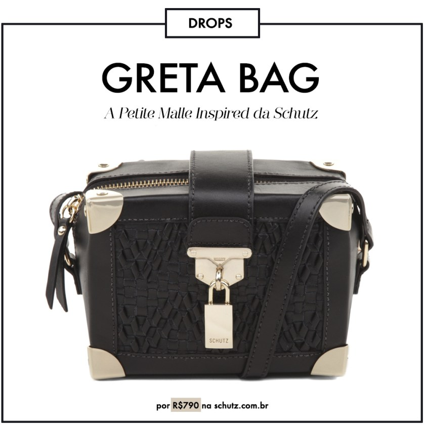 Schutz Greta é a versão brasileira do sucesso da Louis Vuitton, a Petite Malle. Veja mais detalhes no OMC.