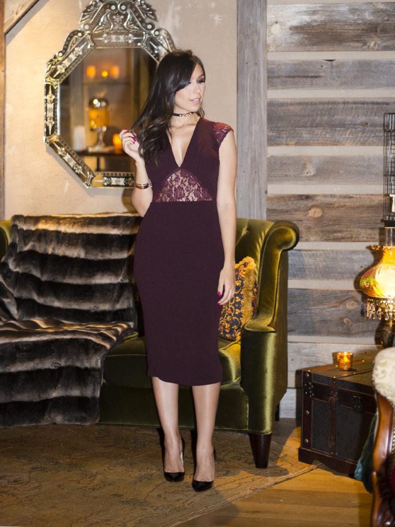 O vestido burgundy da S Trend foi parte do look de inverno 2016 da blogger Mônica Araújo em Nova York, confira!