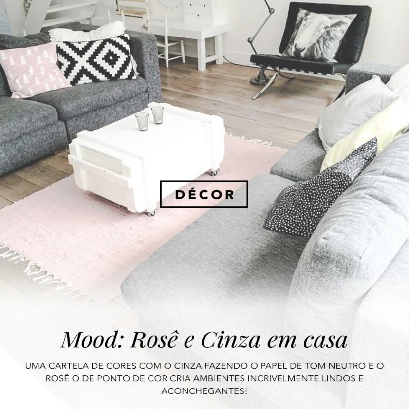 O Rosê pode ficar incrível no décor quando combinado com cinza! Vem ver as dicas do oh My Closet!