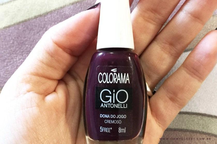 Esmalte da Semana Oh My Closet: Dona do Jogo Gio Antonelli para Colorama.