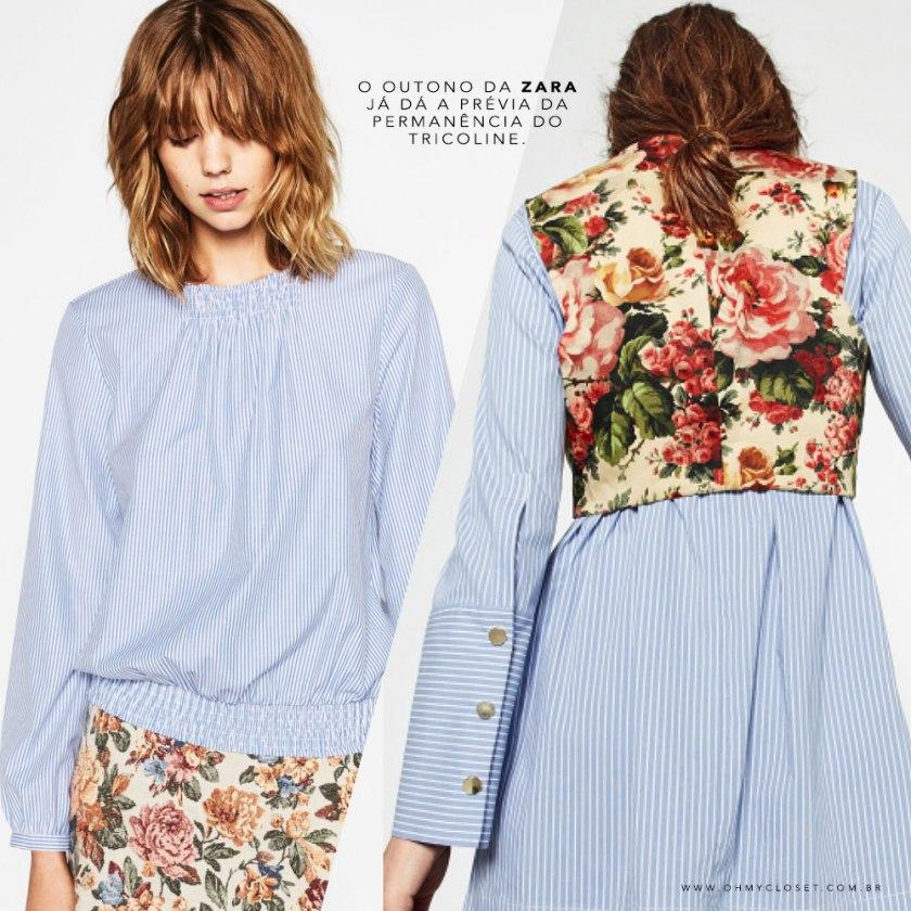 Tendência Verão 2016 Tricoline continua no Outono da Zara. Veja no Oh My Closet!