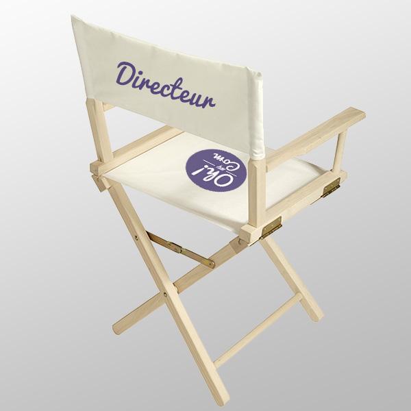 imprimerie chaise cinema ou metteur