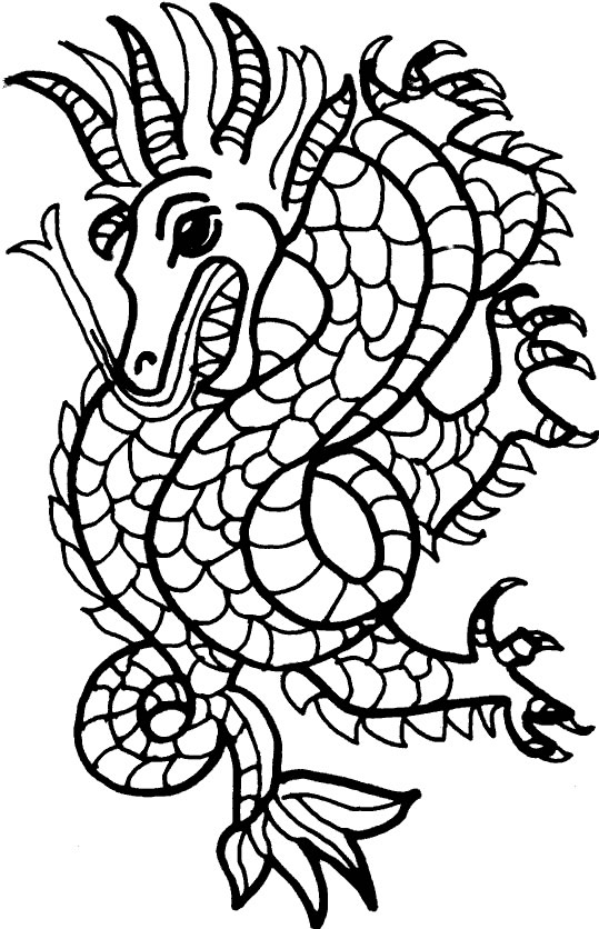 Coloriage Mosaique Coloriages Dragon Jeu Pour Fille