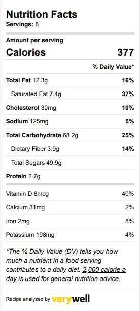 apple crisp nutrition facts
