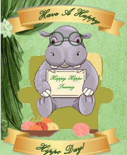 happy hippo sewing
