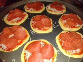 mini pizzas pepperoni