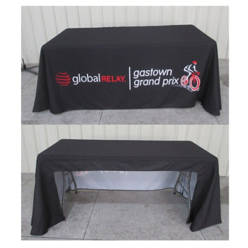 Open Back- Printed Tablecloth Vancouver