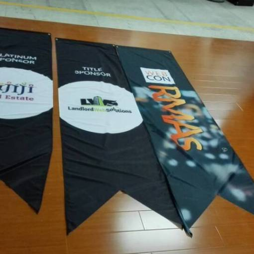 2 point hanging banners flags