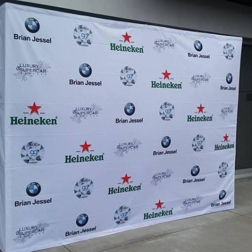 Pop up Display Banner Backdrop for BMW