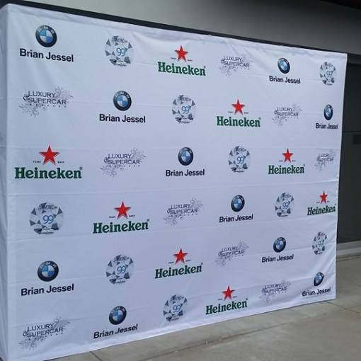 Pop up Display Banner Backdrop for BMW