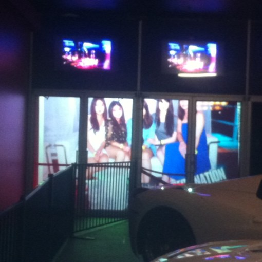 Rear Projection Film - Gossip Nightclub Vancouver Canada