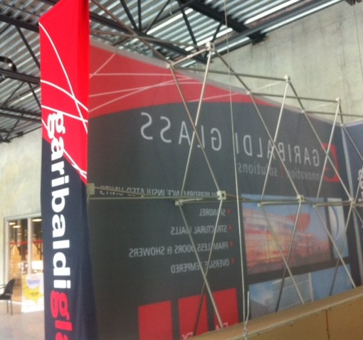 Pop up display printing for backdrops