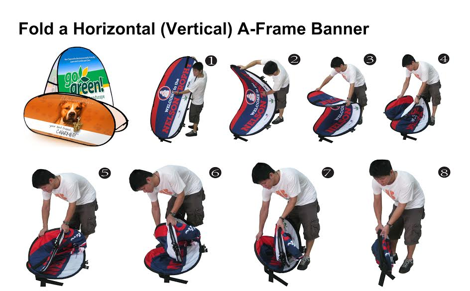 Pop Up Banners Oval Horizontal Sports Marketing Opportunity