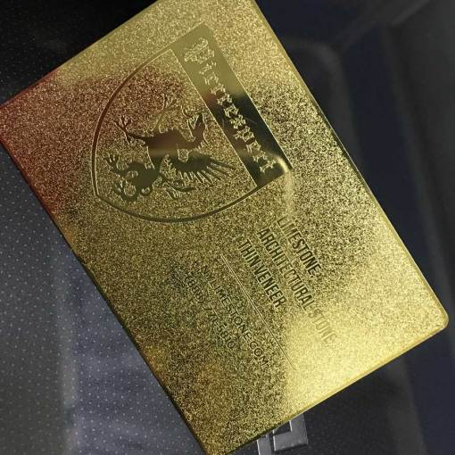Frosted-Gold-Plated-Metal-Business-Cards