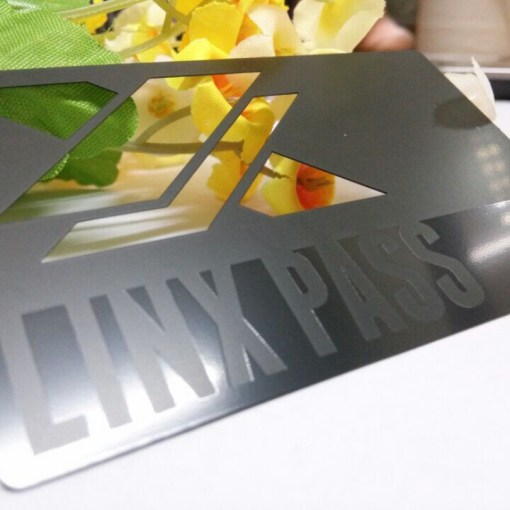 Metal Business Cards - Die Cut with Silk Screen Printing