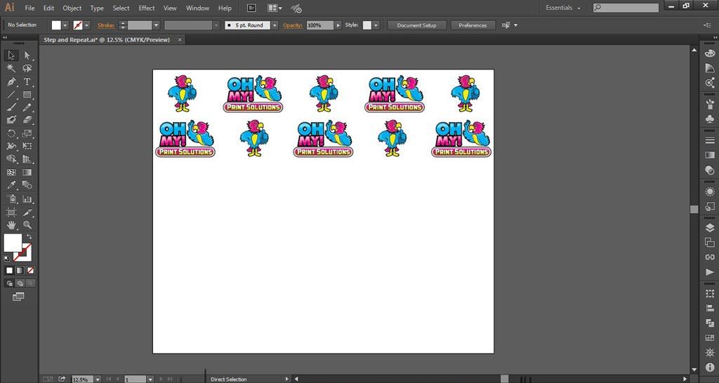 Logo Wall Instructions Illustrator Step 5-e