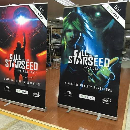 47 inch width banner stand