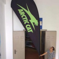 Large outdoor teardrop flag