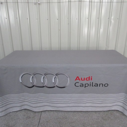 Audi table cloth printing for event