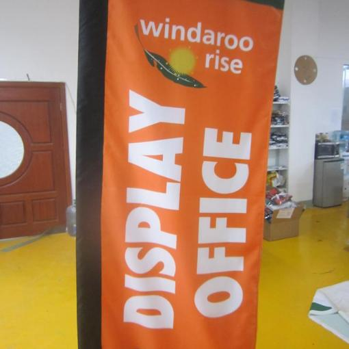 Outdoor rectangle flags