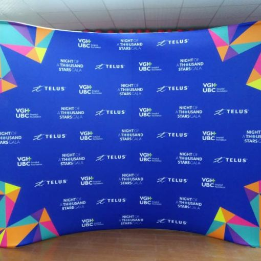 Personalized backdrop Step and Repeat