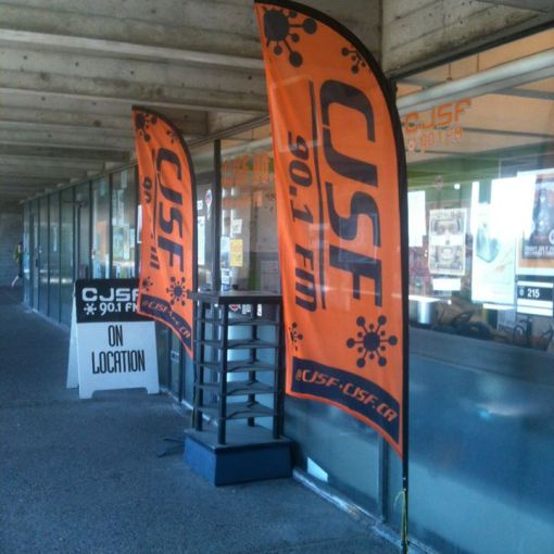 Custom Printed Flags for CJSFM 90.1 SFU