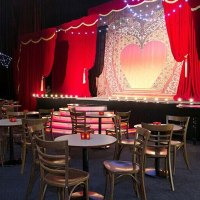 Large fabric backdrop for theatre