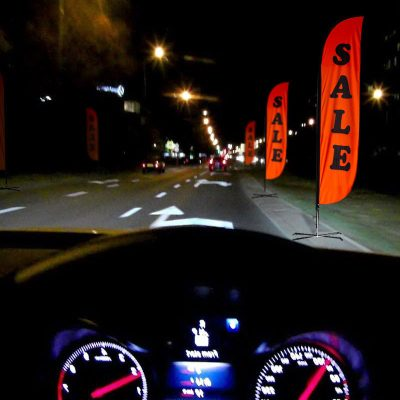 Fluorescent Nigh Vision Flags