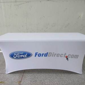 spandex table cover with logo