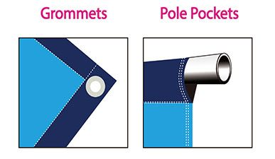 Banners with grommets and Pole Pockets