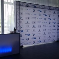 Step and Repeat Media Logo Wall