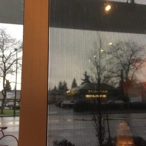 Perforated window film