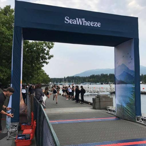 SeaWheeze Race Vancouver - Fabric Banner Printing for Arch