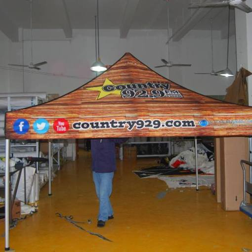 Pop up Canopy Tent Printing for client near London Ontario