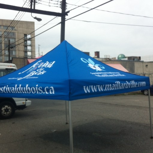 Custom Printed Pop up Canopy Tent for event in Coquitlam, British Columbia - Low Prices