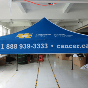 Printed canopy tents shipped throughout British Columbia