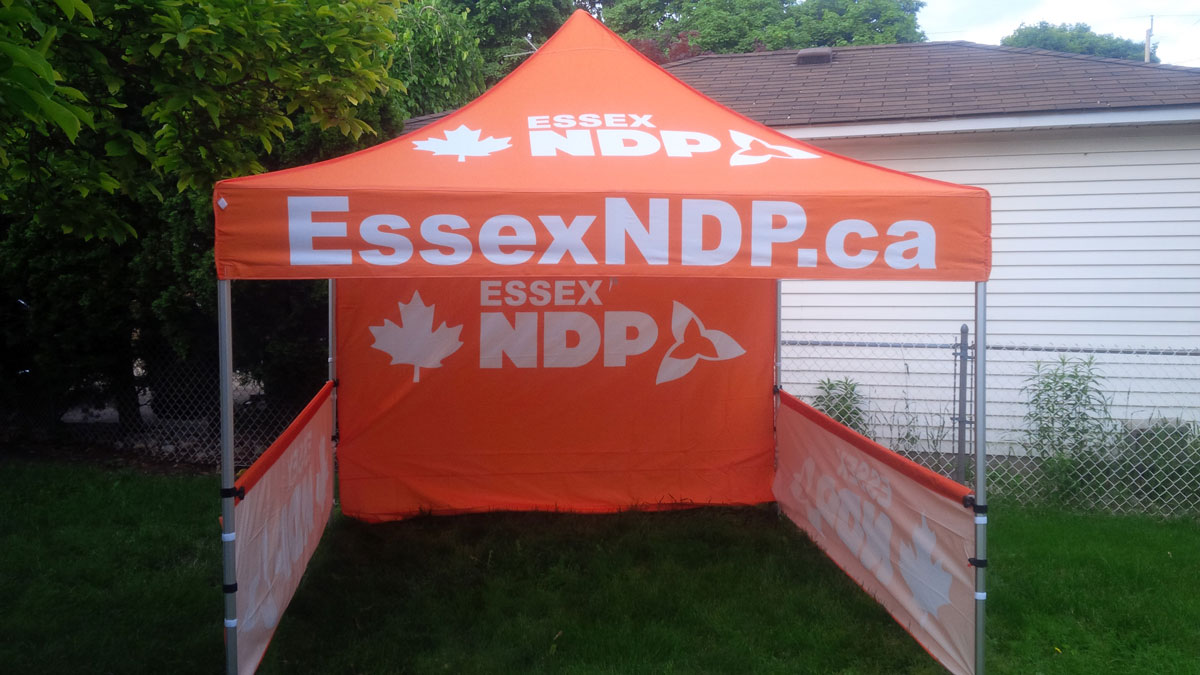 Ontario Canada Pop up Printed Canopy Tent & Custom Printed Pop up Canopy Tents - Free Shipping