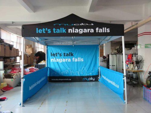 Niagara Falls Ontario custom printed canopy tent