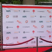 Fabric Step and Repeat Logo press logo walls
