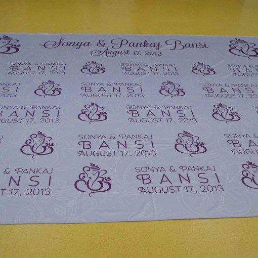 Indian Wedding Banner Step Repeat Vancouver