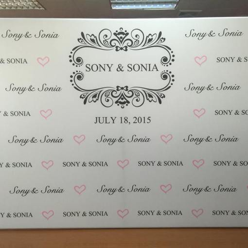 Wedding Step and Repeat Photography Wall