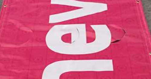 Windslits on Banner