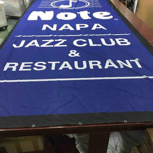 Wind Resistant Stage Banners