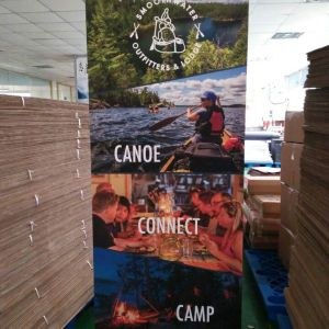 Bamboo Banner Stand Ontario