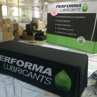 Trade show backdrops displays tablecloth