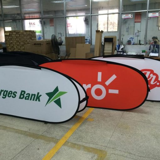 Pop up Banners Oval